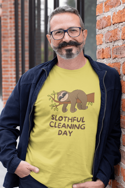 Slothful Cleaning Day Savvy Cleaner Funny Cleaning Shirts Men's Standard Tee