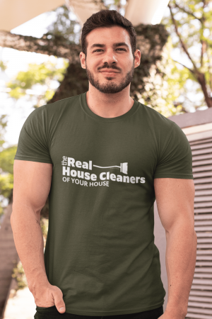 The Real House Cleaners Savvy Cleaner Funny Cleaning Shirts Premium T-Shirt