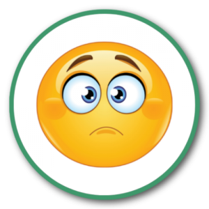 Thinking Emojis in circles (4) - Green-Blue