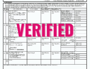 Verified COI (Certificate of Insurance)