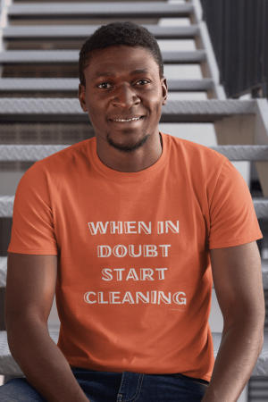 When In Doubt Savvy Cleaner Funny Cleaning Shirts Long T-Shirt