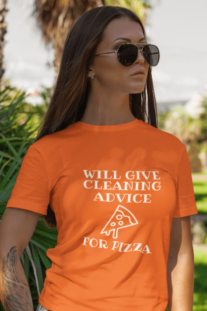 Will Give Cleaning Advice Savvy Cleaner Funny Cleaning Shirts Women's Standard Tee