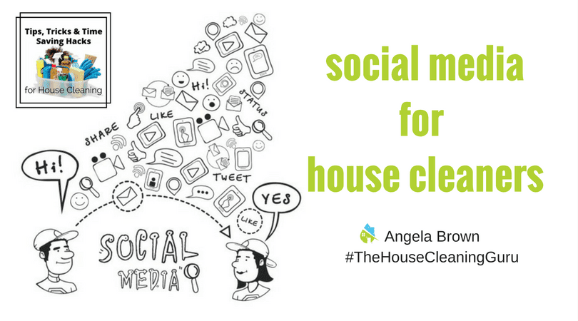 Social Media Tips for House Cleaners @SavvyCleaner