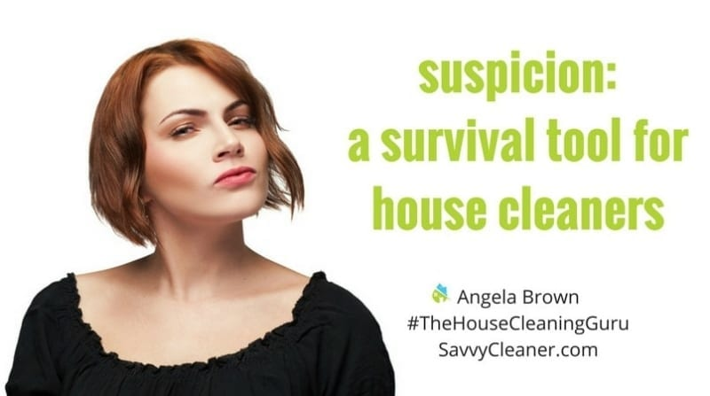 Suspicion – A Survival Tool for House Cleaners @SavvyCleaner